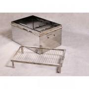 Коптильня домашняя «Престиж экстра» с гидрозатвором 400×200×200 мм, толщина 3 мм, сталь 304 (немагнитка)